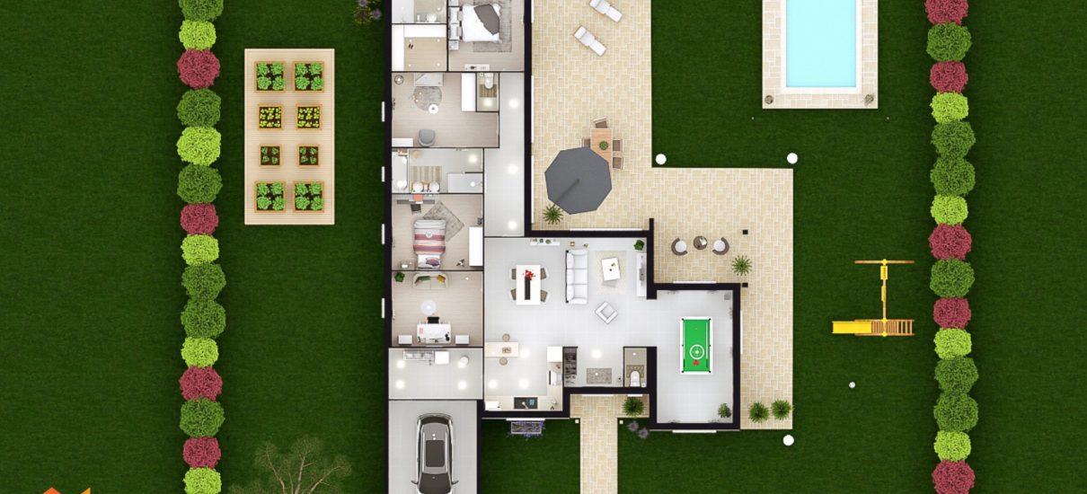 coupe 2D villa