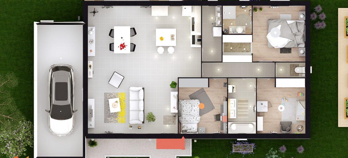 2D agencement maison