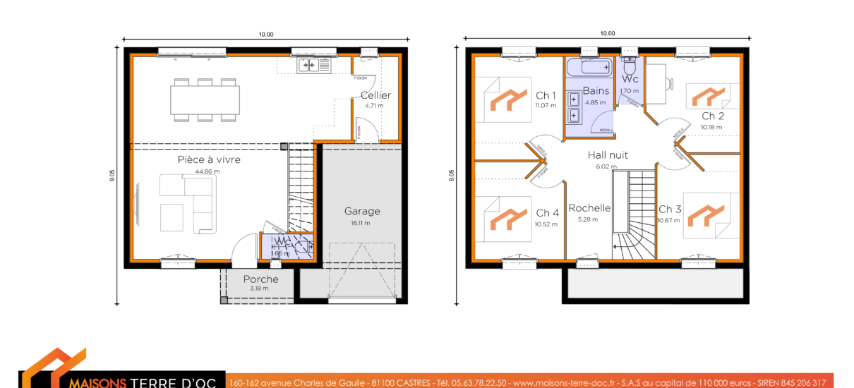 plan maison étage