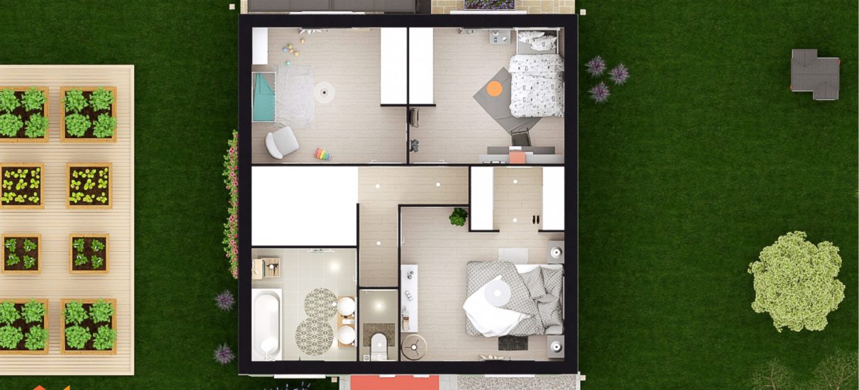maison à étage 2D