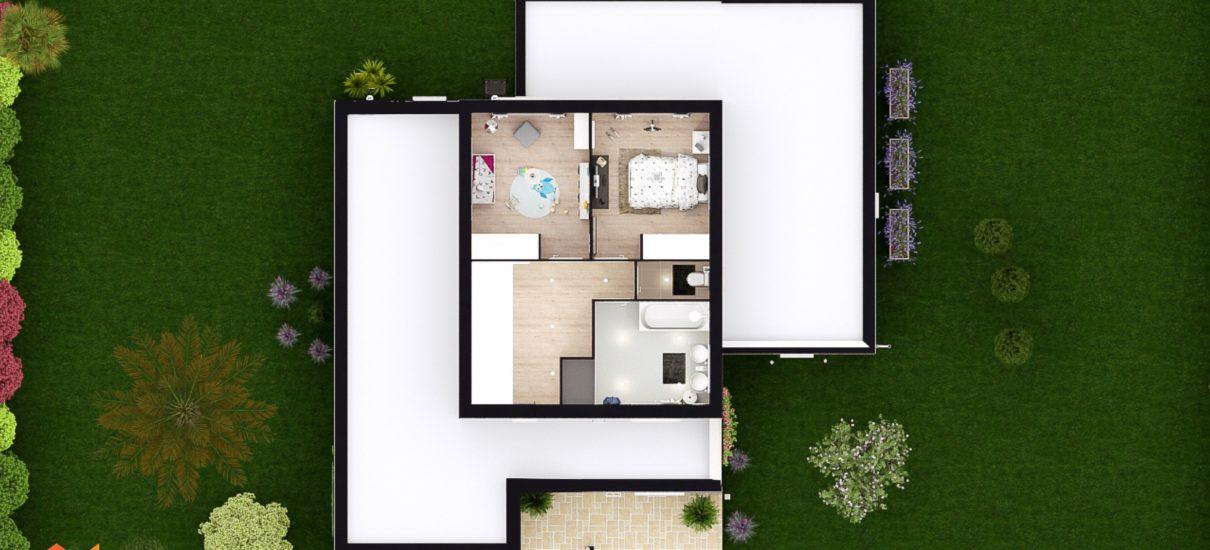 Coupe 2D maison