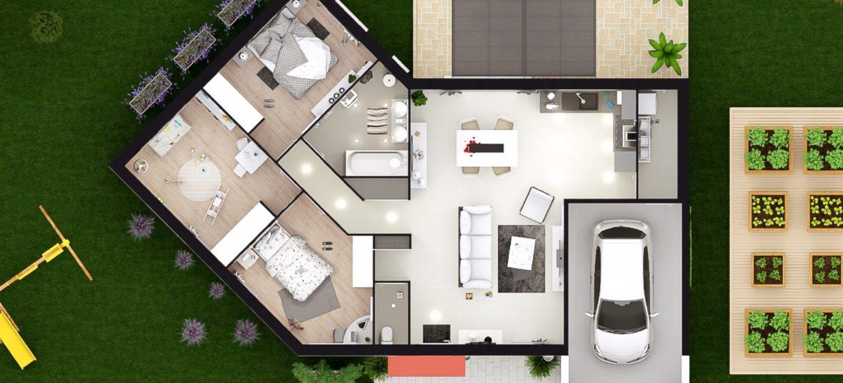 Vue 2D maison