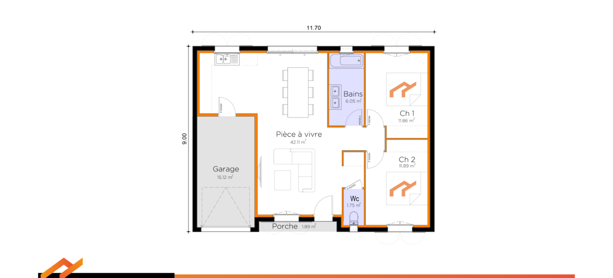 plan maison occitane
