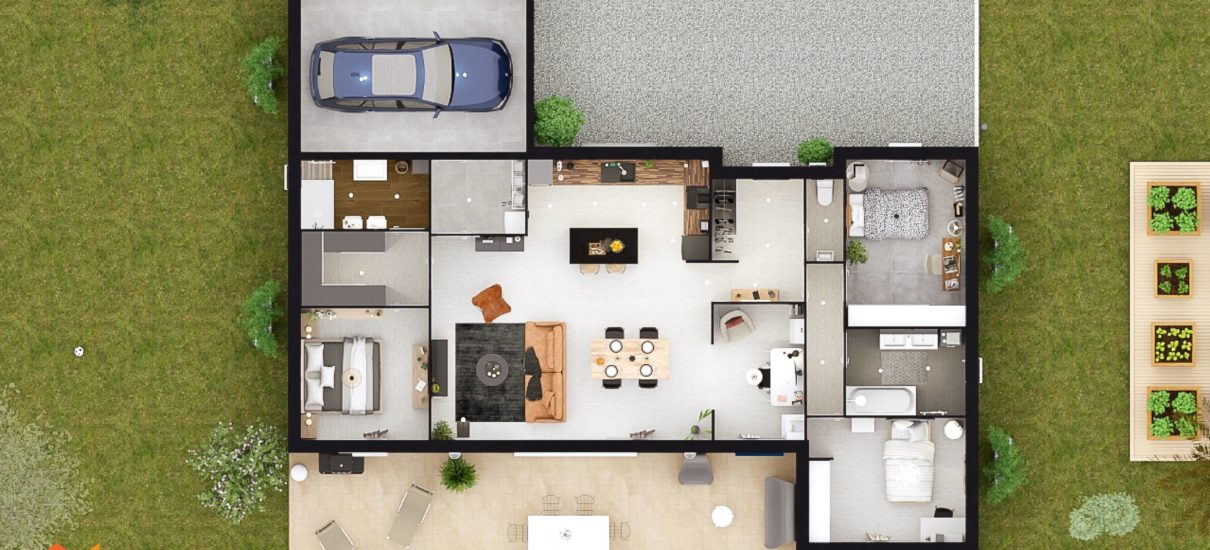 Maison moderne 2D