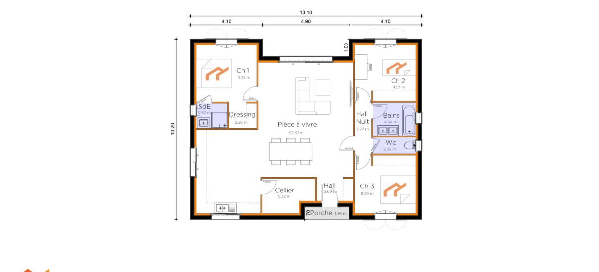 plan de villa