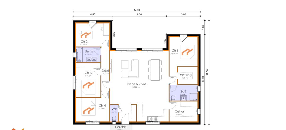 plan de villa design