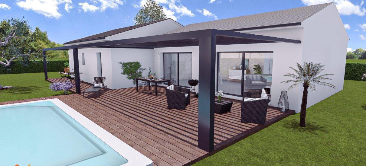 3D maison moderne