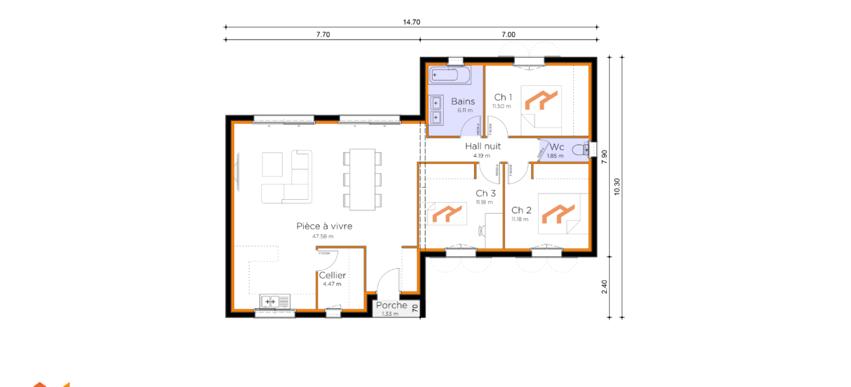 plan de maison occitane