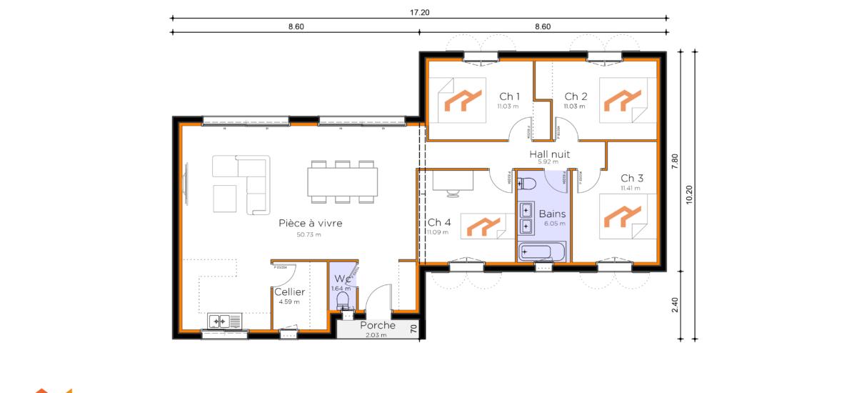 plan de maison traditionnelle